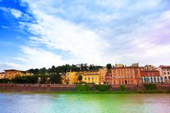 Arno river bank in Florence Royalty Free Stock Photography