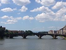 Arno River Bridge Stock Photo