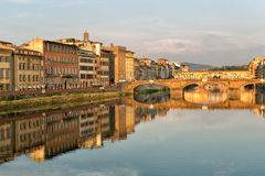 Arno River and Bridges Florence Stock Photo