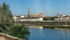Arno river and bridges in Florence, Italy Royalty Free Stock Images