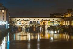 Arno River and bridges Ponte Vecchio Royalty Free Stock Photos