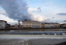 Arno. River Embankment in Florence, Europe Royalty Free Stock Photos