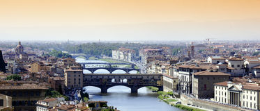 Arno river Florence bridges Royalty Free Stock Photography
