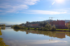 The Arno River of Florence Royalty Free Stock Photos