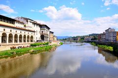 Arno river, Florence city view , Italy Stock Photos