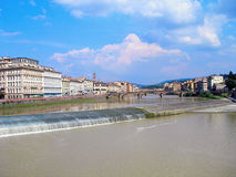 Arno River in Florence. Royalty Free Stock Images
