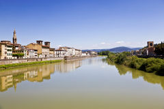Arno river in Florence (Firenze), Tuscany, Italy Royalty Free Stock Images