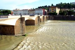 The Arno River in Florence Royalty Free Stock Photos