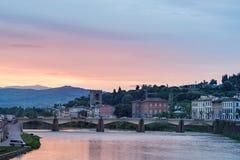 Arno River Florence Italy Fotos de Stock Royalty Free