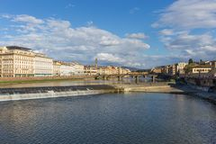 Arno River in Florence Italy Royalty-vrije Stock Foto's