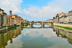 Arno river in Florence of Italy Royalty Free Stock Photography