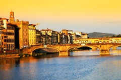 Arno River in Florence, Italy Royalty Free Stock Images