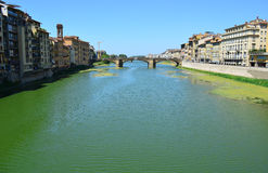 Arno River in Florence - Italy Royalty Free Stock Photos
