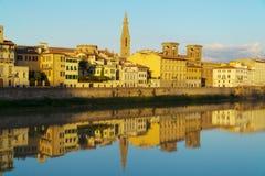 Arno river Florence, Italy Stock Photos