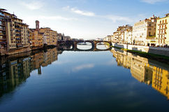 Arno River in Florence, Italy Stock Images
