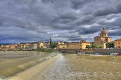 Arno river and Florence landscape Stock Photo
