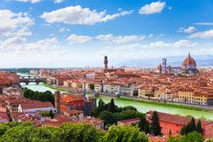 Arno river and Florence panorama Royalty Free Stock Photos