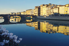 Arno River in Florence, Panorama Royalty Free Stock Image