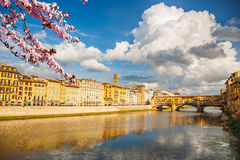 Arno river in Florence at spring Royalty Free Stock Photo