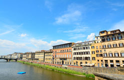 Arno River in Florence on a sunny day Royalty Free Stock Photo