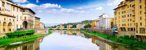 Arno river in Florence,Tuscany, Italy. Panorama Stock Images