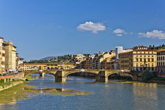 Arno River in Italy. Panorama of the Arno river in Florence, Italy royalty free stock photography