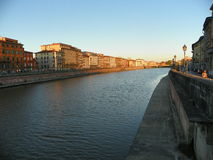 Arno River in Pisa Stock Foto's