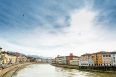 Arno river in Pisa. Italy royalty free stock photography