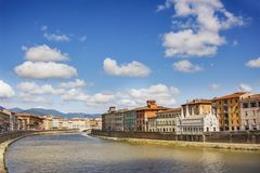 Arno River in Pisa. Italian landscape royalty free stock photography