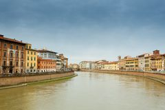 Arno river in Pisa. Italy stock photography