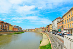 Arno river in Pisa Royalty Free Stock Images