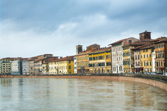 Arno river in Pisa, Italy. Stock Photography