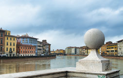 Arno river in Pisa, Italy. Stock Image