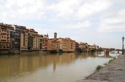Arno river&Ponte alle Grazie Bridge Firenze,Italy Stock Photos