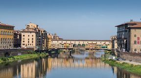 Arno river and Ponte Vecchio in Florence, Italy Royalty Free Stock Photography