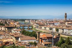 Arno river and Ponte Vecchio in Florence, Italy Royalty Free Stock Image