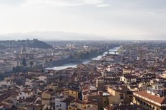 The Arno River from the Tower Palazzo Vecchio Royalty Free Stock Image