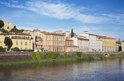 Arno River and waterfront buildings, Florence Stock Photo