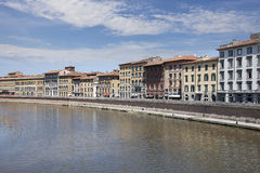 Arno River and waterfront buildings, Pisa Royalty Free Stock Photo