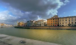 Arno. The rivet Arno in Pisa, Italy Royalty Free Stock Images