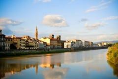 Arno rzeka w Florencja Obraz Stock