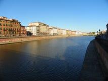 Arno rzeka w Pisa Fotografia Royalty Free