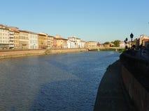 Arno rzeka w Pisa Zdjęcie Royalty Free