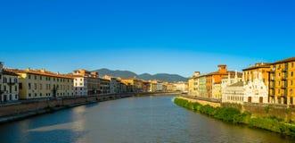 Arno rzeka w Pisa Włochy Obraz Royalty Free