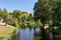 Arnoia river, in Allariz, Ourense, Spain. Arnoia river on a summer day, in Allariz, Ourense, Spain stock image