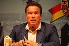 Arnold Schwarzenegger στη Βαρκελώνη Στοκ εικόνα με δικαίωμα ελεύθερης χρήσης