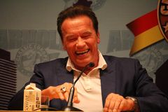 Arnold Schwarzenegger στη Βαρκελώνη Στοκ Εικόνα