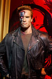 Arnold Schwarzenegger. As Terminator wax statue at Madame Tussauds in London royalty free stock photo