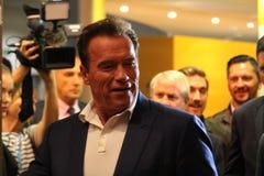 Arnold Schwarzenegger en Barcelona imagen de archivo libre de regalías
