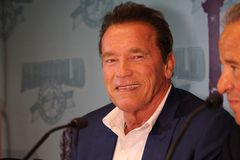 Arnold Schwarzenegger en Barcelona imagenes de archivo